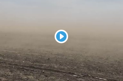 Video of blowing soil