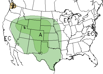 Climate Prediction Center 30-day outlook for June 2019