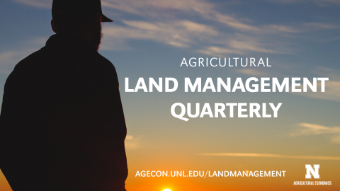 Image promoting the Agricultural Land Management Quarterly.