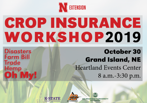 Graphic promoting the Oct. 30 Crop Insurance Workshop in Nebraska