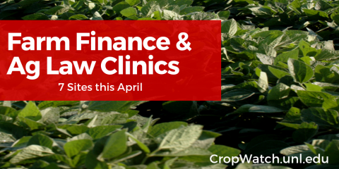 Farm Finance and Ag Law Clinics flyer