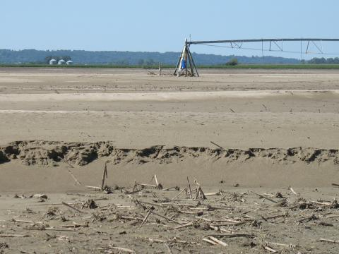 Eastern Nebraska field covered with sand in 2011. (Photo courtesy of Lee Valley, Inc.)