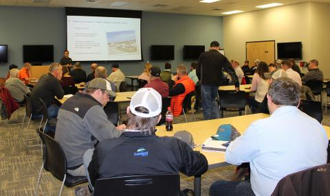 Growers and industry represenatives gather at the kick-off gathering for the 2019 UNL-TAPS competitions