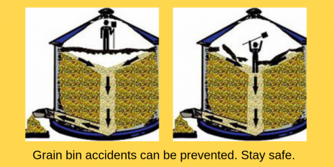 Grain bin safety infographic
