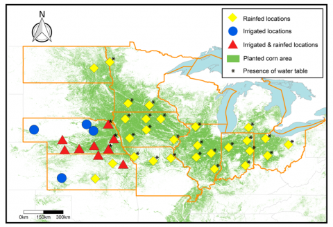 yield forecast network of sites across the upper midwest