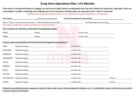 farm operation plan example