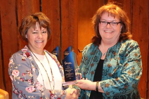 Lisa Jasa receiving the Media Appreciation Award