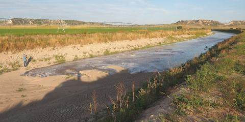 irrigation canal in western Nebraska