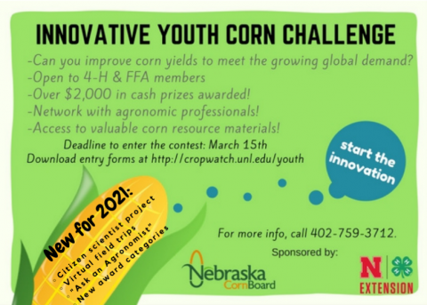 Nebraska Youth Corn Challenge info flyer