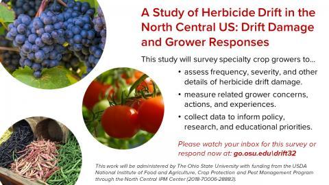 Herbicide drift survey info graphic