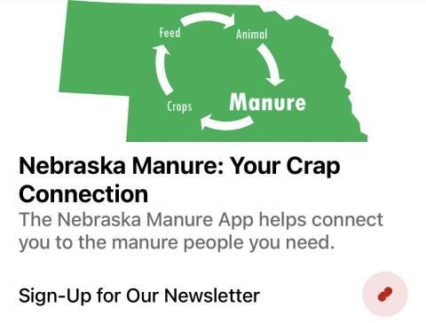 Manure app homepage image