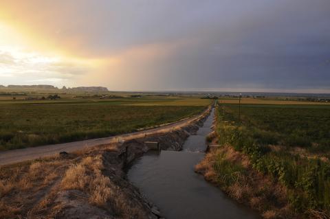 Nebraska irrigation canal
