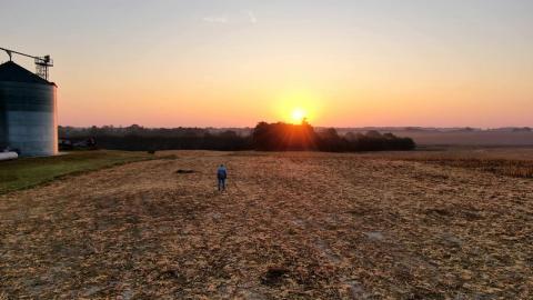 Farmer on land