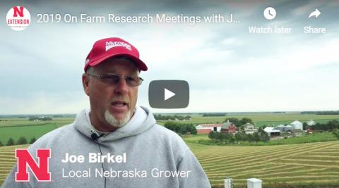 Nebraska farmer Joe Birkel on the benefits of on-farm research