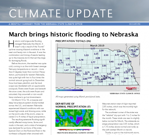 March 2019 NSCO Climate Update