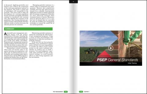 Screen capture of one of the new flip books for pesticide training