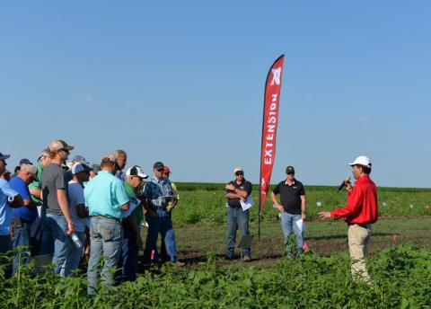 Nebraska Extension Weed Management Specialist Amit Jhala describes ongoing research on new technologies and practices at a previous Weed Management and Cover Crop Field Day. This year's event will be June 26.
