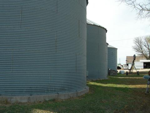 Farm grain bins