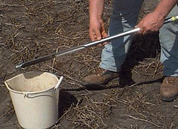 soil probe in use