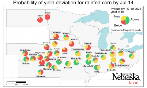 Probability of 2021 yield potential map