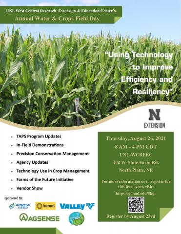 Water and Crops Field Day flyer